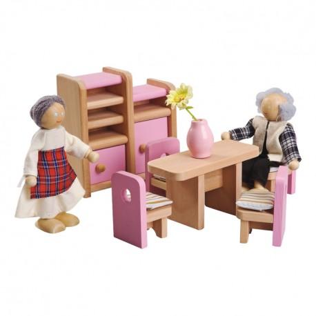 IMP-EX Nábytok do domčeka pre bábiky - Jedálenský kútik