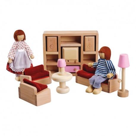 IMP-EX Nábytok do domčeka pre bábiky - Obývačka