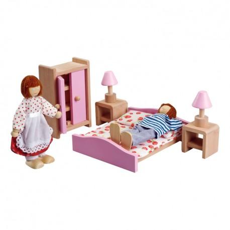 IMP-EX Nábytok do domčeka pre bábiky - Spálňa