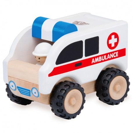 Wonderworld Drevené autíčko - Ambulancia