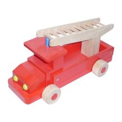Drevené autíčko - hasičské veľké