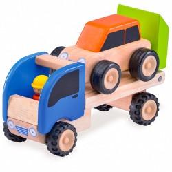 Drevené autíčko - na prepravu áut