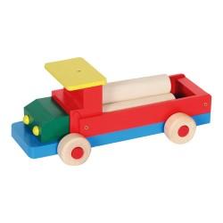 Drevené autíčko - nákladné veľké s valcami
