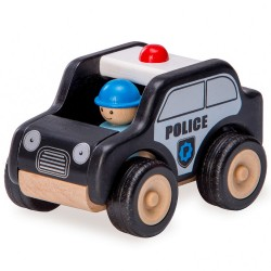 Drevené autíčko - Polícia (W)