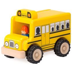 Drevené autíčko - školský autobus