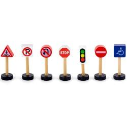 Viga Dopravné značky z dreva - sada 7 ks