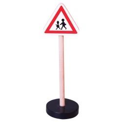 Drevená dopravná značka - deti