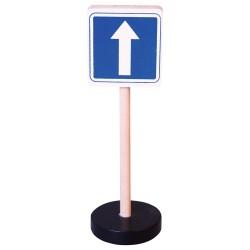 Drevená dopravná značka - jednosmerná premávka