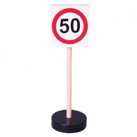 Drevená dopravná značka - najvyššia dovolená rýchlosť