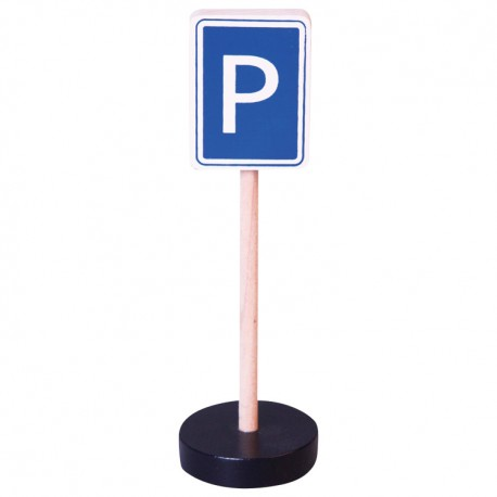 Drevená dopravná značka - parkovisko