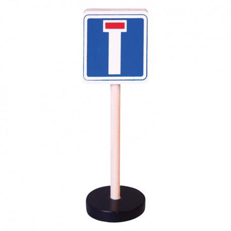 Drevená dopravná značka - slepá cesta