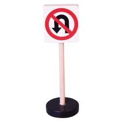 Drevená dopravná značka - zákaz otáčania vozidiel