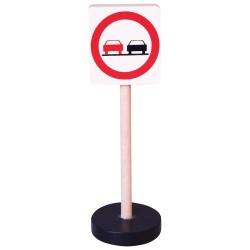 Drevená dopravná značka - zákaz predchádzania