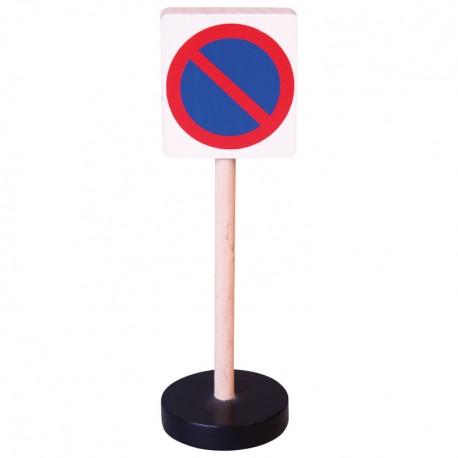 Drevená dopravná značka - zákaz státia