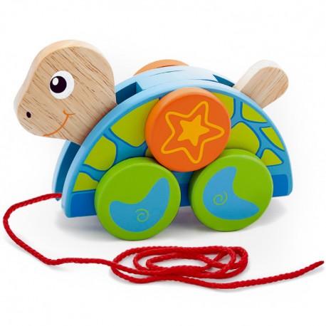 VIGA Drevená hračka na ťahanie - korytnačka