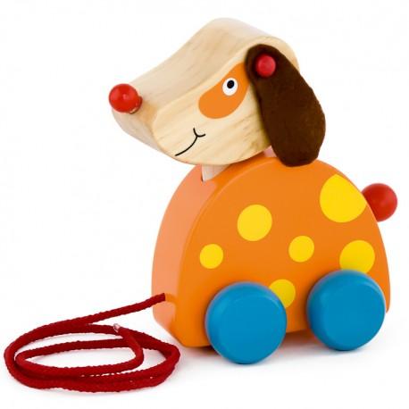 VIGA Drevená hračka na ťahanie - psík