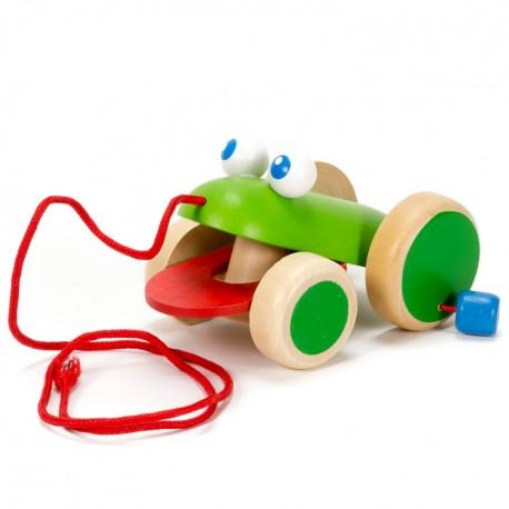 Viga Drevená hračka na ťahanie - žabka