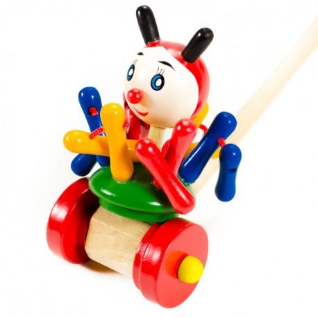 VIGA Drevená hračka na tlačenie - Chobotnica