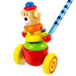 IMP-EX Drevená hračka na tlačenie - Macko