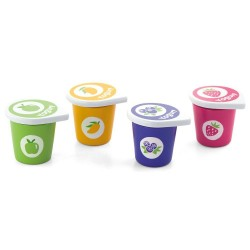VIGA Drevené jogurty 4 kusy