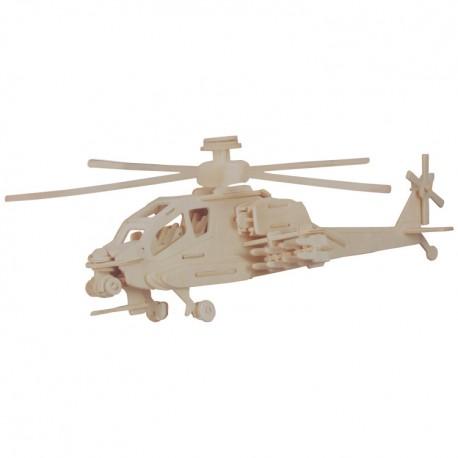 Drevený model natur - Apache helikoptéra