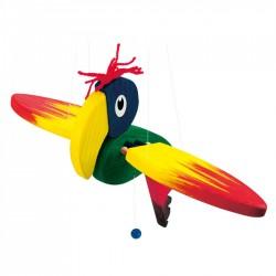 Závesná dekorácia - lietajúci papagáj - malý