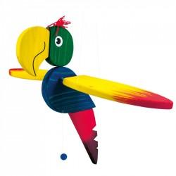Závesná dekorácia - lietajúci papagáj - veľký