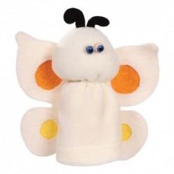 Prstová plyšová maňuška - Motýľ biely