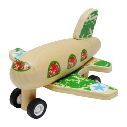 IMP-EX Drevené lietadlo na zotrvačník - zelené