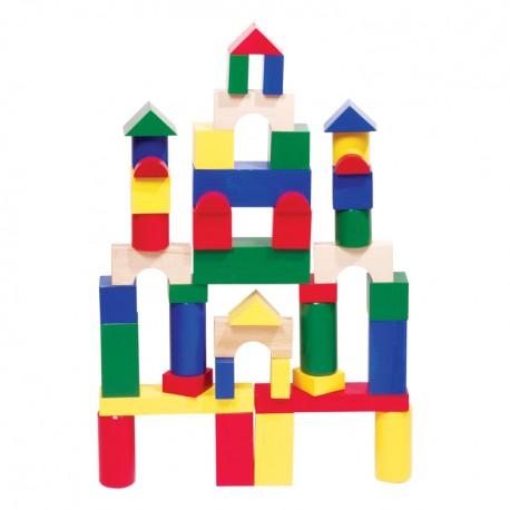 IMP-EX Drevené kocky farebné 7 cm-ové - 44 ks