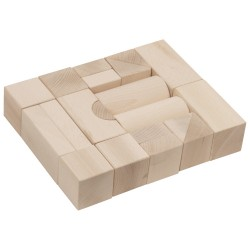 IMP-EX Drevené kocky natur 5 cm-ové - 20 ks