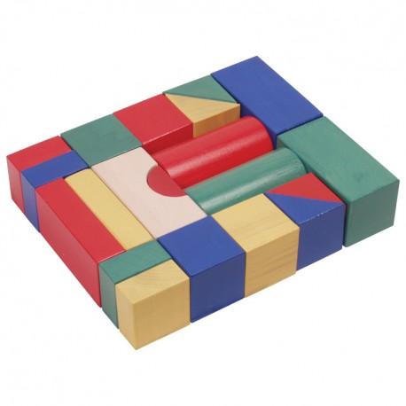 IMP-EX Drevené kocky farebné 5 cm-ové - 20 ks