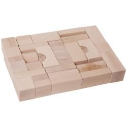 IMP-EX Drevené kocky natur 4 cm-ové - 38 ks