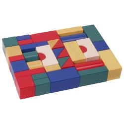 IMP-EX Drevené kocky farebné 4 cm-ové - 38 ks