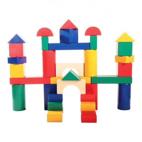 IMP-EX Drevené kocky farebné 9 cm-ové - 35 ks