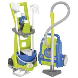 ÉCOIFFIER detský upratovací vozík Clean Home s vysávačom
