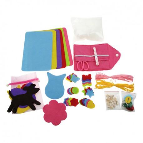 Detský set na šitie v kufríku Mačička