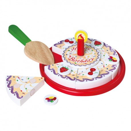 VIGA Drevené potraviny - torta na krájanie v papierovej krabici
