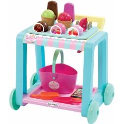Detský vozík so zmrzlinou Délices Écoiffier s košíkom a 22 doplnkami