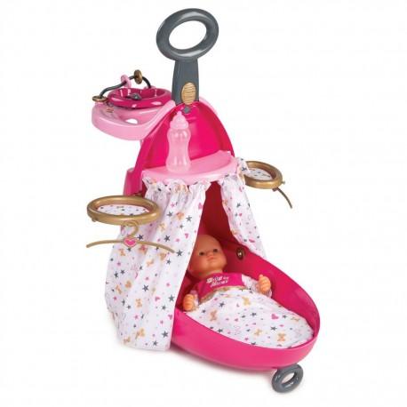 SMOBY Baby Nurse opatrovateľské centrum pre bábiky v kufri Zlatá edícia