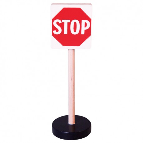 Drevená dopravná značka - stop