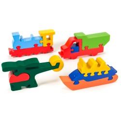 Puzzo 3D puzzle  - dopravné prostriedky