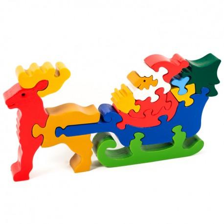 Puzzo 3D puzzle - Mikuláš na sánkach