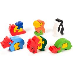 Puzzo 3D puzzle  - sada šiestich zvieratiek
