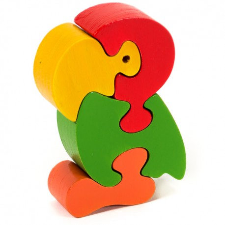 Puzzo 3D puzzle - papagáj malý