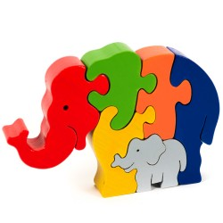 Puzzo 3D puzzle - slony