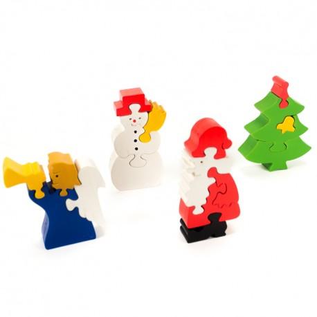 Puzzo 3D puzzle - Vianočná sada 4-dielna