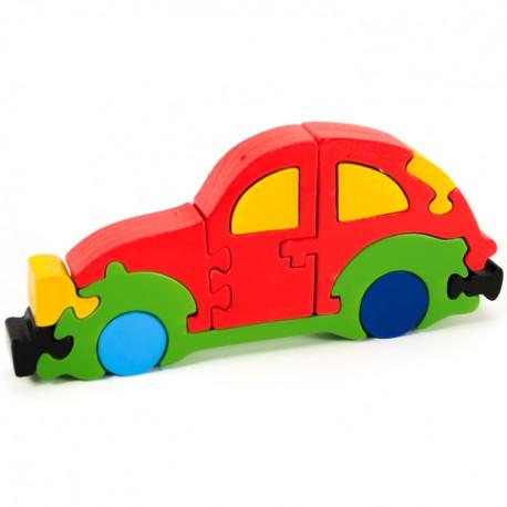 Puzzo 3D puzzle - VW Beetle červený