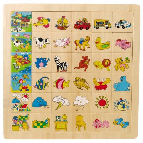 Drevené puzzle - Nájdi a priraď! - Doprava