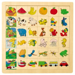 IMP-EX Drevené puzzle - Nájdi a priraď! - Ovocie